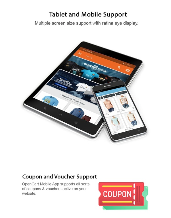 Who has an Android shopping app with a code that supports OpenCart