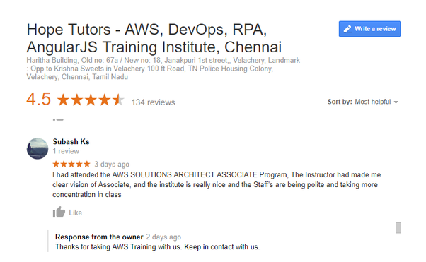 Which is the best institute for the AWS Associate Solution Architect