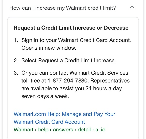 I Have Had My Credit Card With Walmart For 2 Years I M Never Late