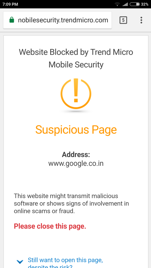 Is there a way to block certain sites in Chrome on Android
