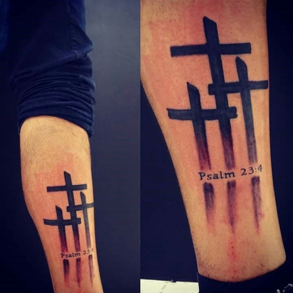 What Is The Meaning Of The 3 Crosses Tattoo?