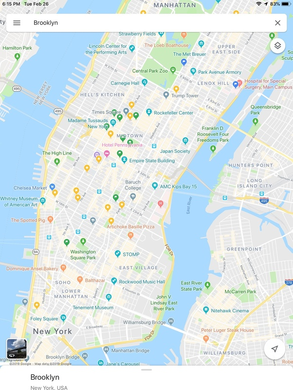 I'm trying to mark some locations on an NYC map, but the NYC map is on