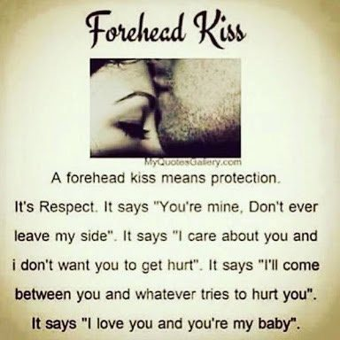 What Does A Kiss On The Forehead Means