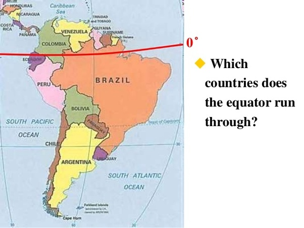 Map Of America Equator.Which South American Country Is The Closest To The Equator Quora