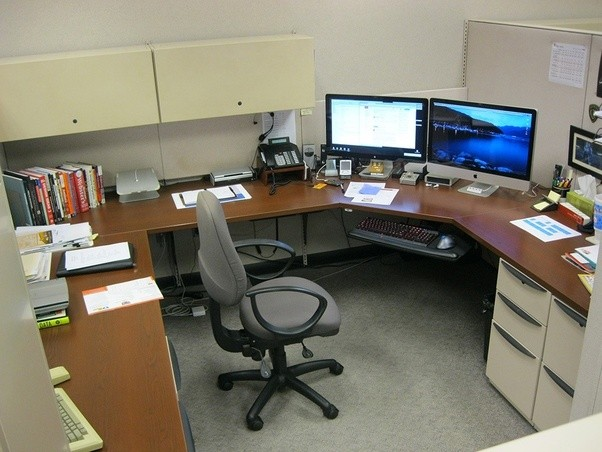 cubicle office space. I\u0027ve Had No Such Negative Effects On My State Of Mind From Working In A Cubicle. The Space Is Ample, It\u0027s Relatively Private (I Share One Wall With Cubicle Office