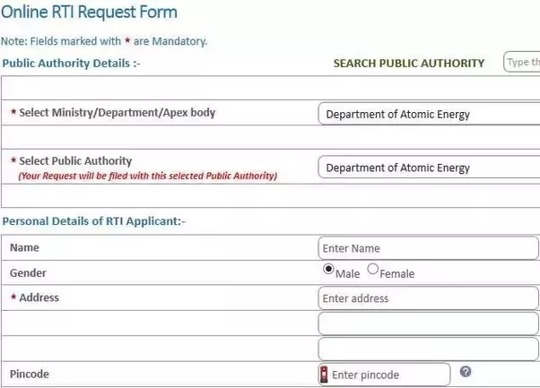 How to file an rti quora you have to enter your email id to complete the application but if you want sms alerts about the status of your application then you can also enter your spiritdancerdesigns Gallery