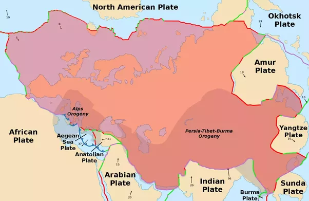 Why is israel considered to be a european country even though it the map shows where the major eurasian plate meets the african major plate and the arabian plate is a minor plate connected to the african plate along the gumiabroncs Choice Image