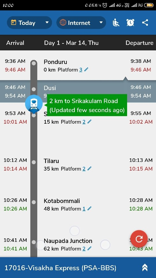 Which is the best site to track the live running status of