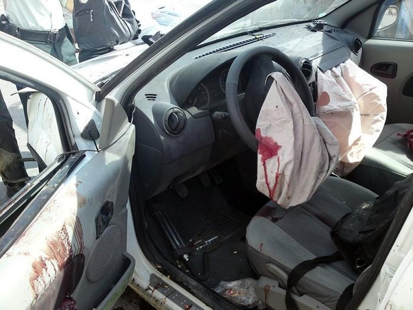 I Quickly Learned To Stay Away From Cars With Their Airbags Hanging Out Those Are The Ones Most Likely Have Seats Covered In Dried Blood