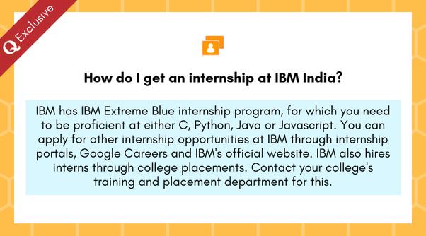 How to get an internship at IBM India - Quora