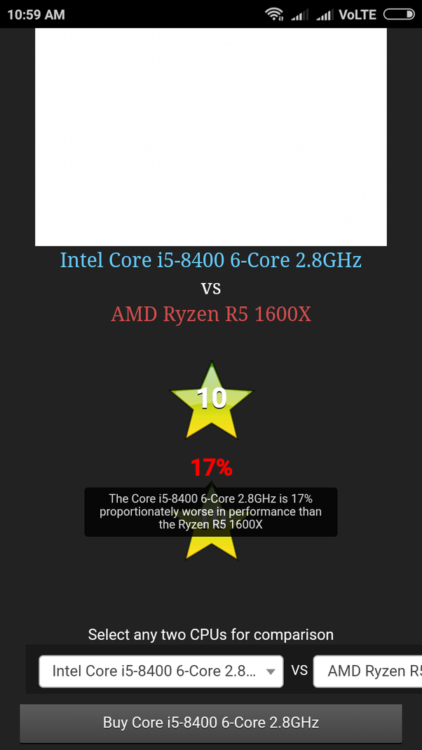 Should I buy the i5-8400 or the Ryzen 5 2600 with GTX 1060? - Quora