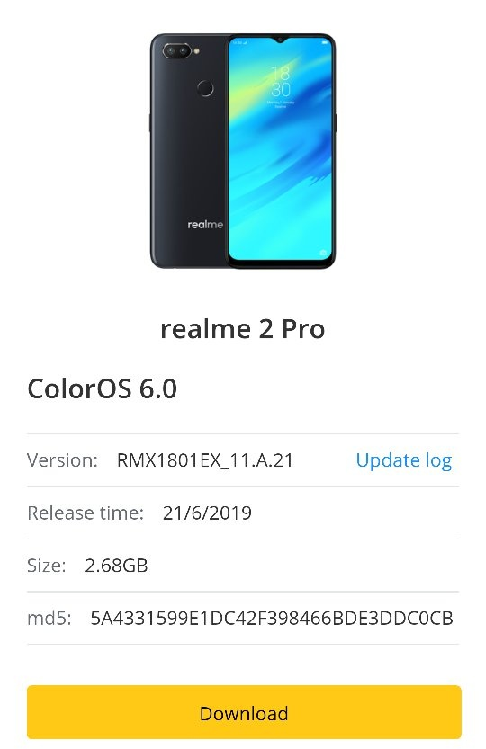 When will the Realme 2 Pro get the ColorOS 6 update? - Quora