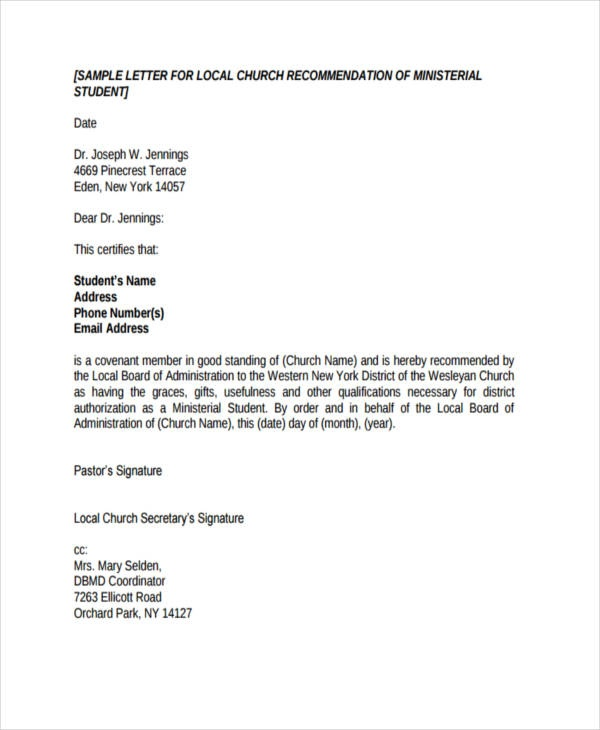How to write a recommendation letter for a church member   Quora