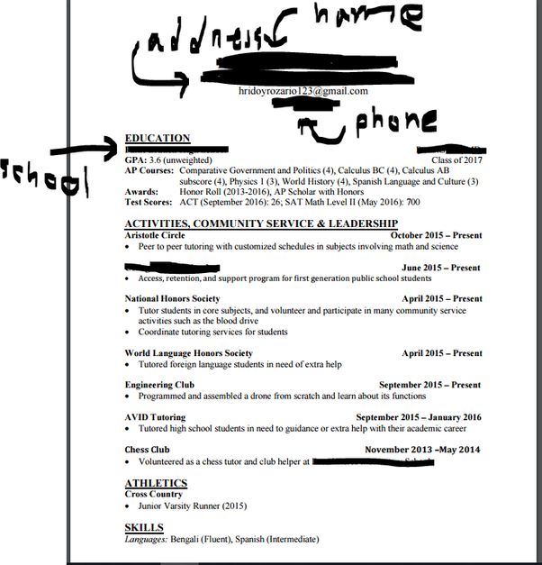 Lovely Here Is My High School Resume. Some Info, Such As My ACT Score, Though Bad  I Still Had To Put On There Because Most Colleges And Other Program Want  This ...  Tips On Making A Resume