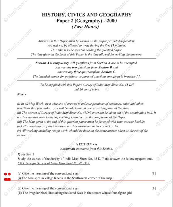 Paper on geography