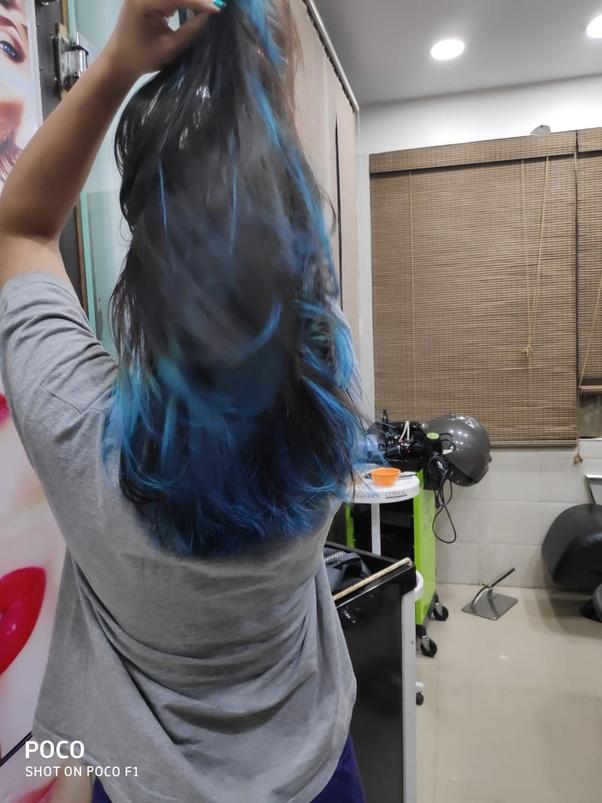 Do Blue Highlights Look Good In Black Hair Quora