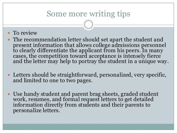 What Grad Schools Look For In Letters Of Recommendation