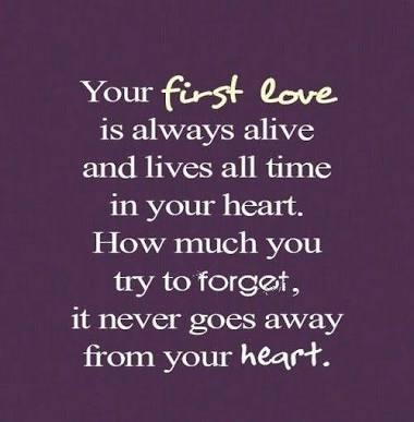 never forget your first love