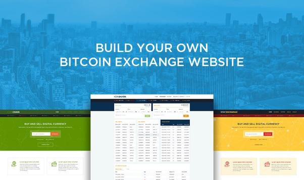 develop cryptocurrency exchange website