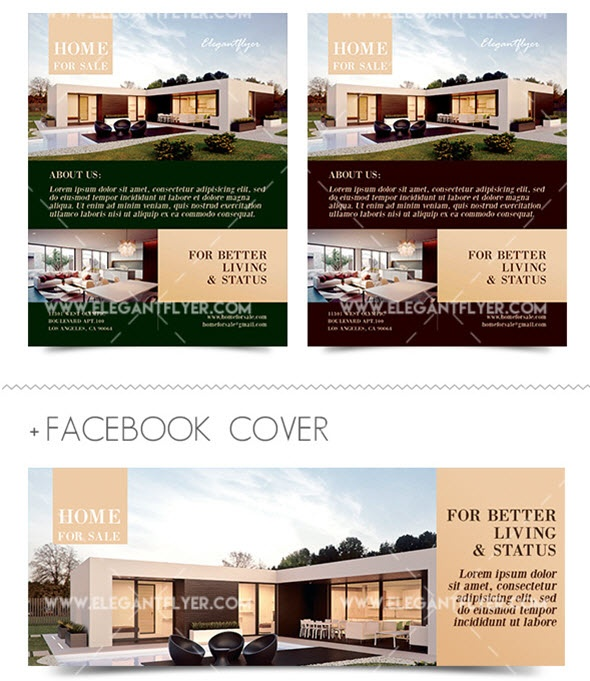 Download A Free Real Estate Flyer Template  Home For Sale Brochure