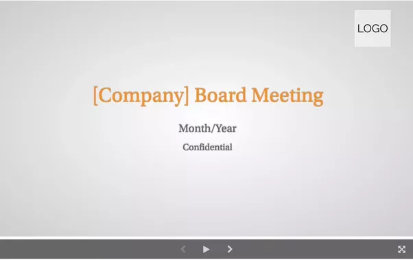 Whats an ideal agenda for a startup board meeting quora with this board meeting presentation template you start off with your agenda so your audience knows what they are going to be covering from the start pronofoot35fo Images