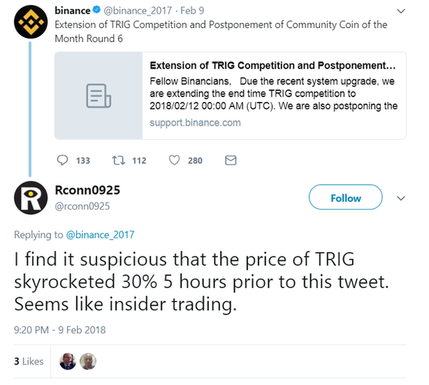 is insider trading illegal for cryptocurrency