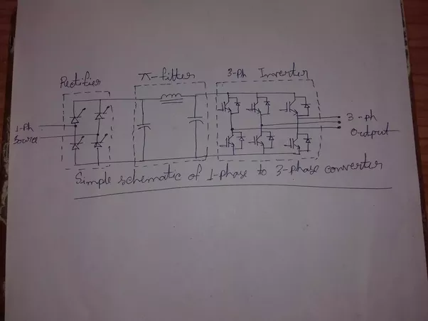 how to convert a single phase ac 220v input to a three. Black Bedroom Furniture Sets. Home Design Ideas