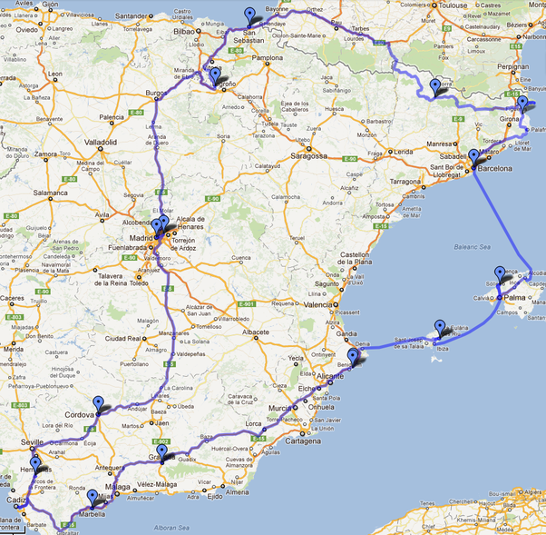 What is an awesome itinerary for three weeks in Spain with a car