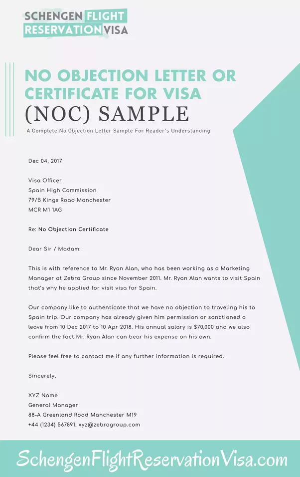 Here Iu0027m Going To Quote Some Travel Expert Advise U201cDo Not Submit Your Visa  Application Without NOC (No Objection Certificate) Because It Is Mandatory  In ...  No Objection Certificate Format From Employer