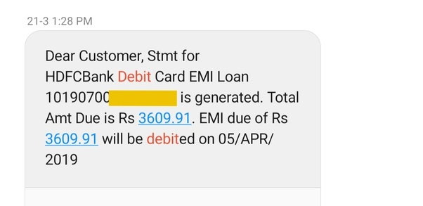 How To Check An Hdfc Debit Card Emi Status Quora