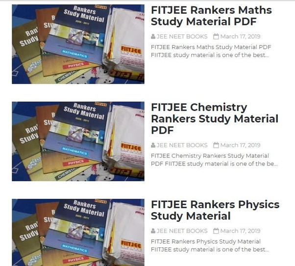 From where can we free download FIITJEE study package? - Quora