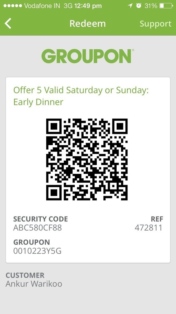 Groupon mobile redemption