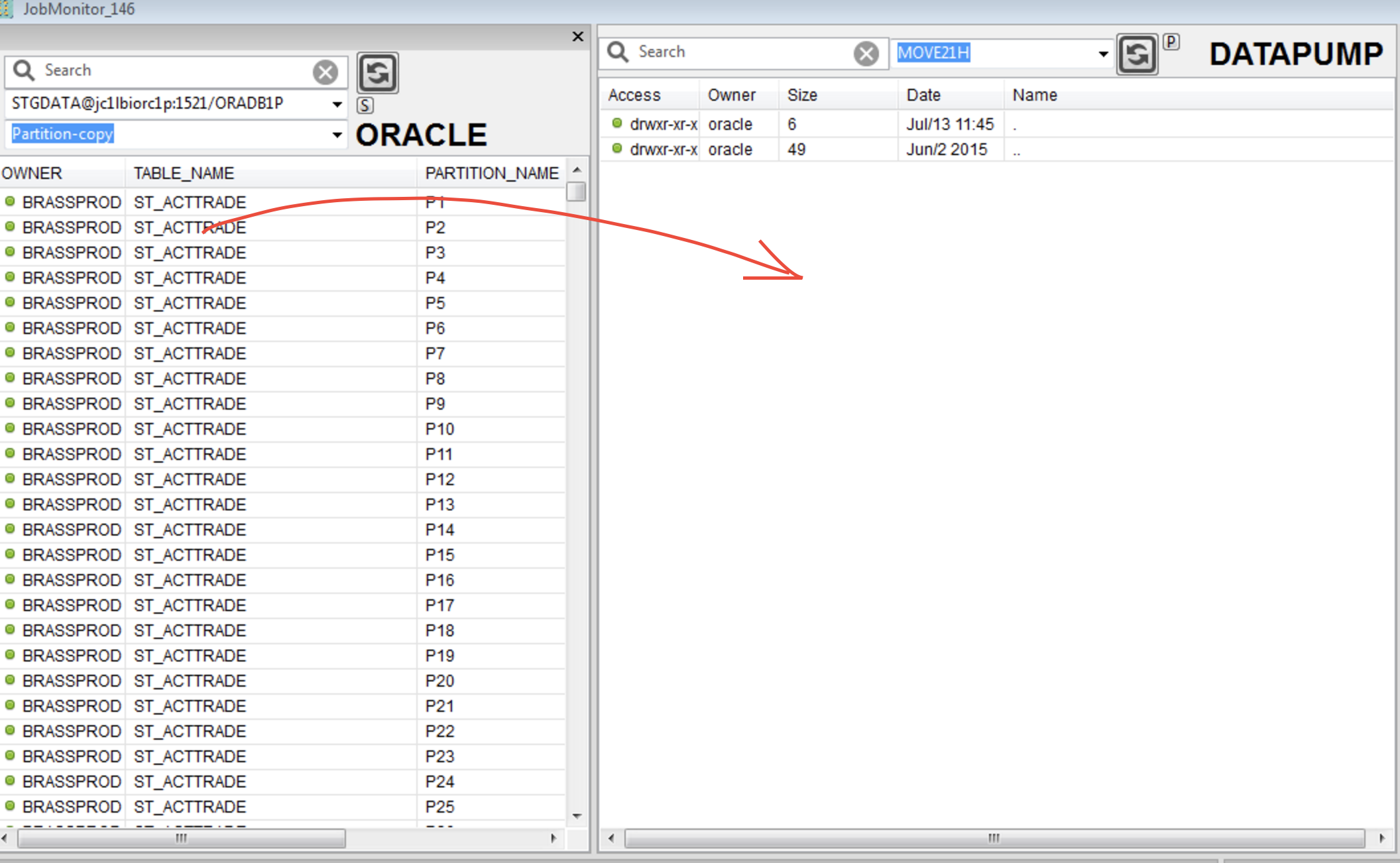 How to copy data from one database to another database in