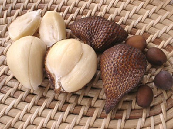 what is a fruit that is brown on the outside but white on the inside