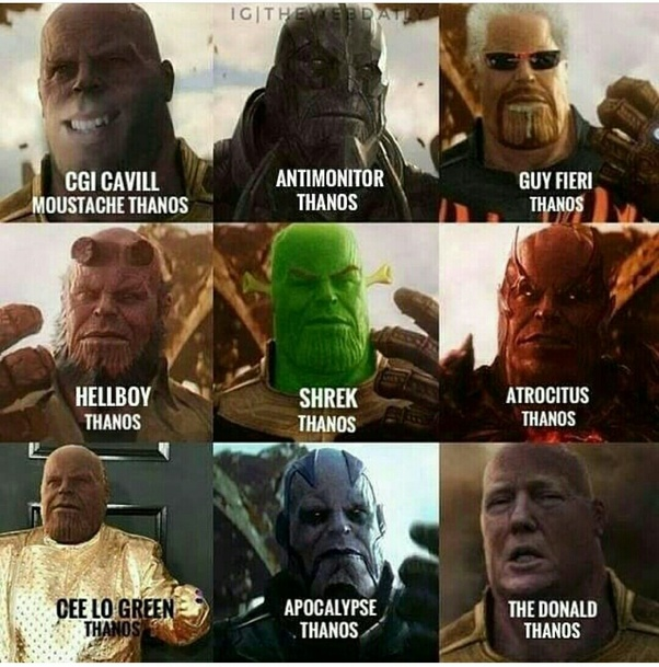What Are Some Funny Memes Of Avengers Infinity War Quora