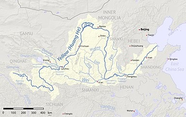 Where Is The Huang He River On The Chinese Map Quora