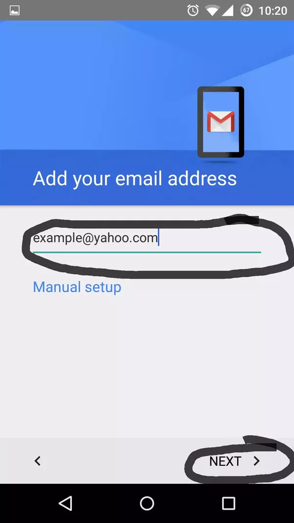 how to set up gmail account in android