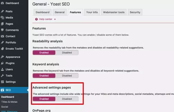 how to activate the xml sitemaps in the latest version of yoast seo