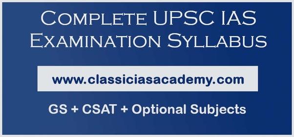 UPSC IAS Examination Syllabus