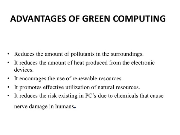 green computing approaches