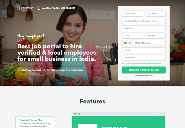 what are free job posting sites in india