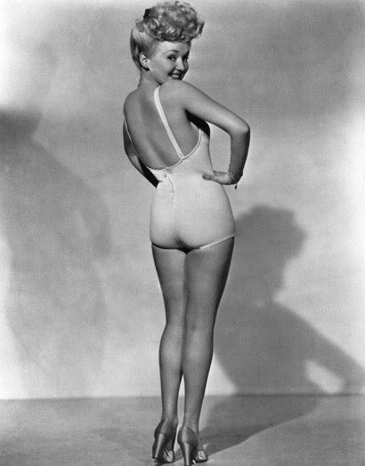 Nude female yoga model