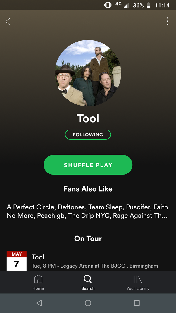 Why is the band Tool not available on Spotify? - Quora