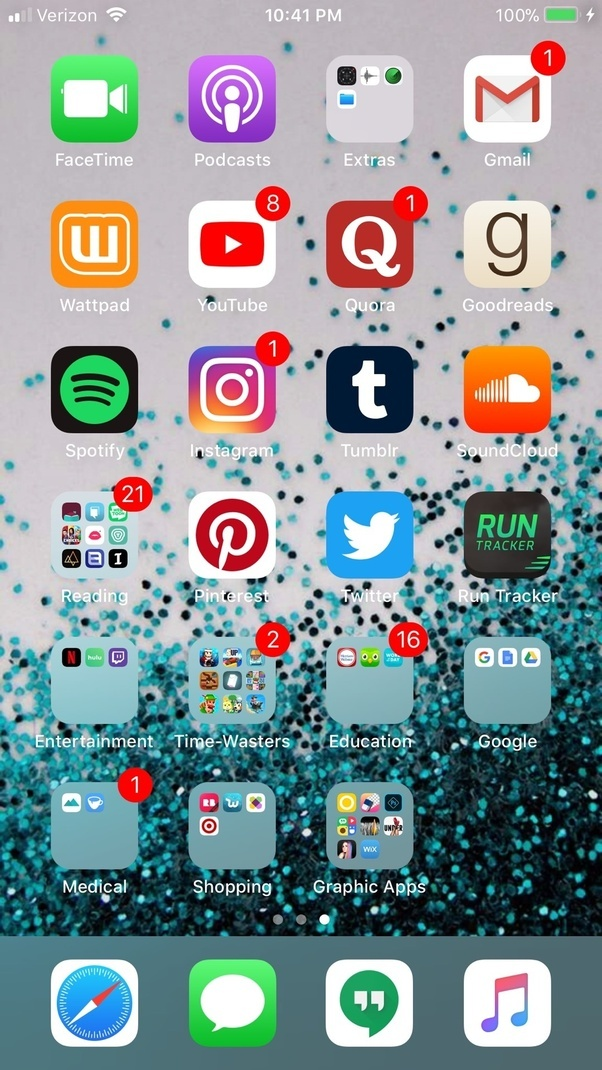 what apps are on your phones homescreen