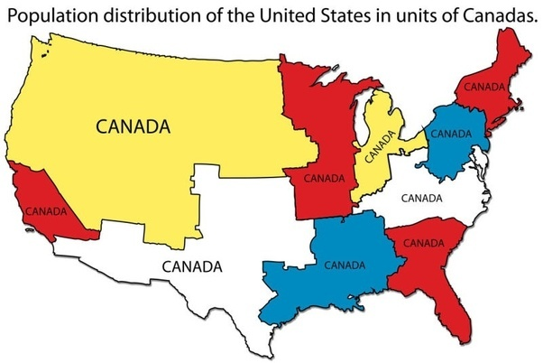 Why is the east half of the United States more lit up at night than