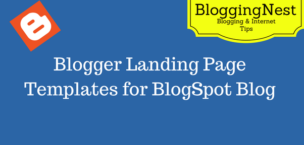 What are some free blogger landing page templates? - Quora