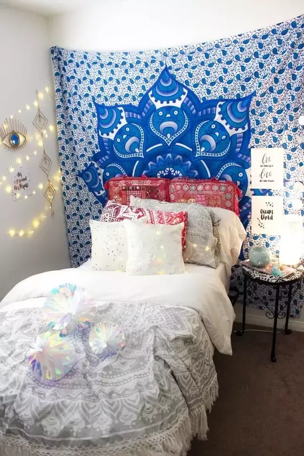Just Hang Tapestry On Your Wall And Give Awesome Look To Your Wall Decor .  I Am Sharing Some Bedroom Wall Decor Ideas Below That You Can Also Apply .