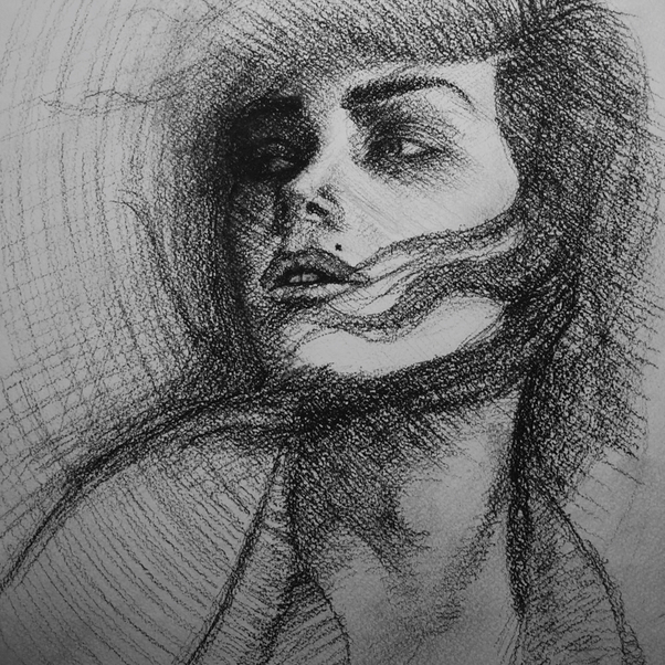 As shown in this charcoal sketch by azat akopyan found on artstack art online it conveys mood and movement as well as a likeness of the model