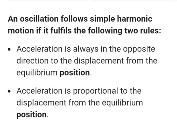 What are the conditions necessary for a simple harmonic motion? - Quora