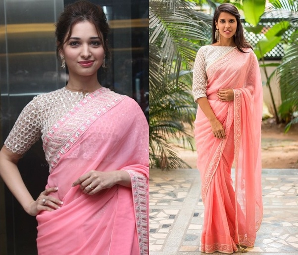 00bde0059a There are various shades which you can match with a plain Pink saree, but  they need to be darker to contrast your outfit well.